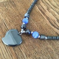 Haematite Hearts or Crosses Necklaces
